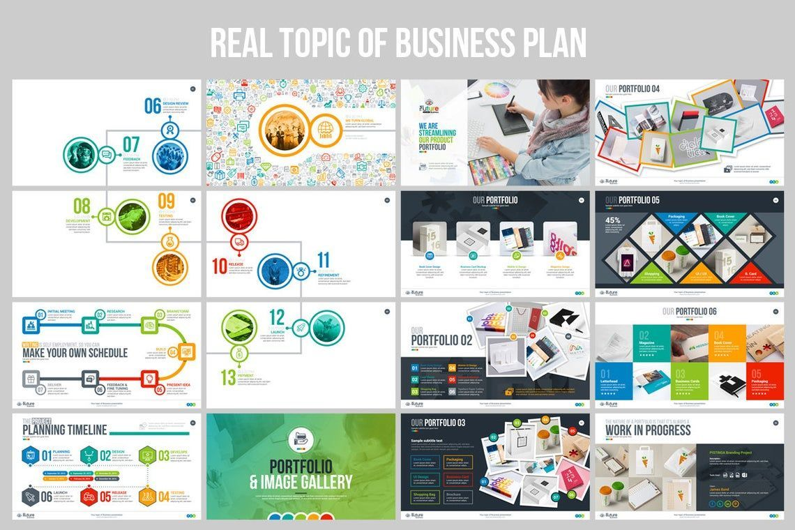The Future of Business PowerPoint Template, Slide 7, 06682, Infographics — PoweredTemplate.com