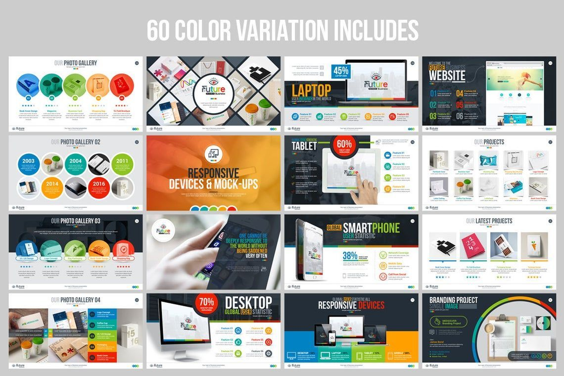 The Future of Business PowerPoint Template, Slide 8, 06682, Infographics — PoweredTemplate.com