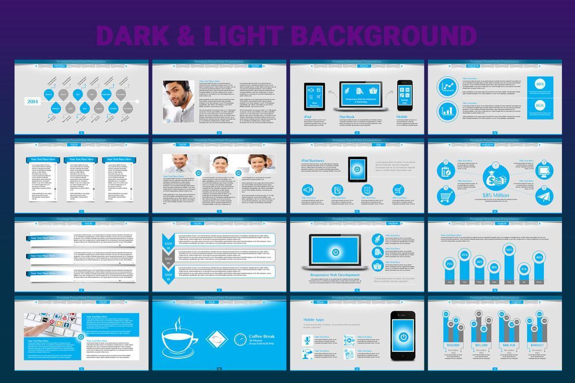 Turn PowerPoint Presentation Template, Slide 3, 06683, Icons — PoweredTemplate.com