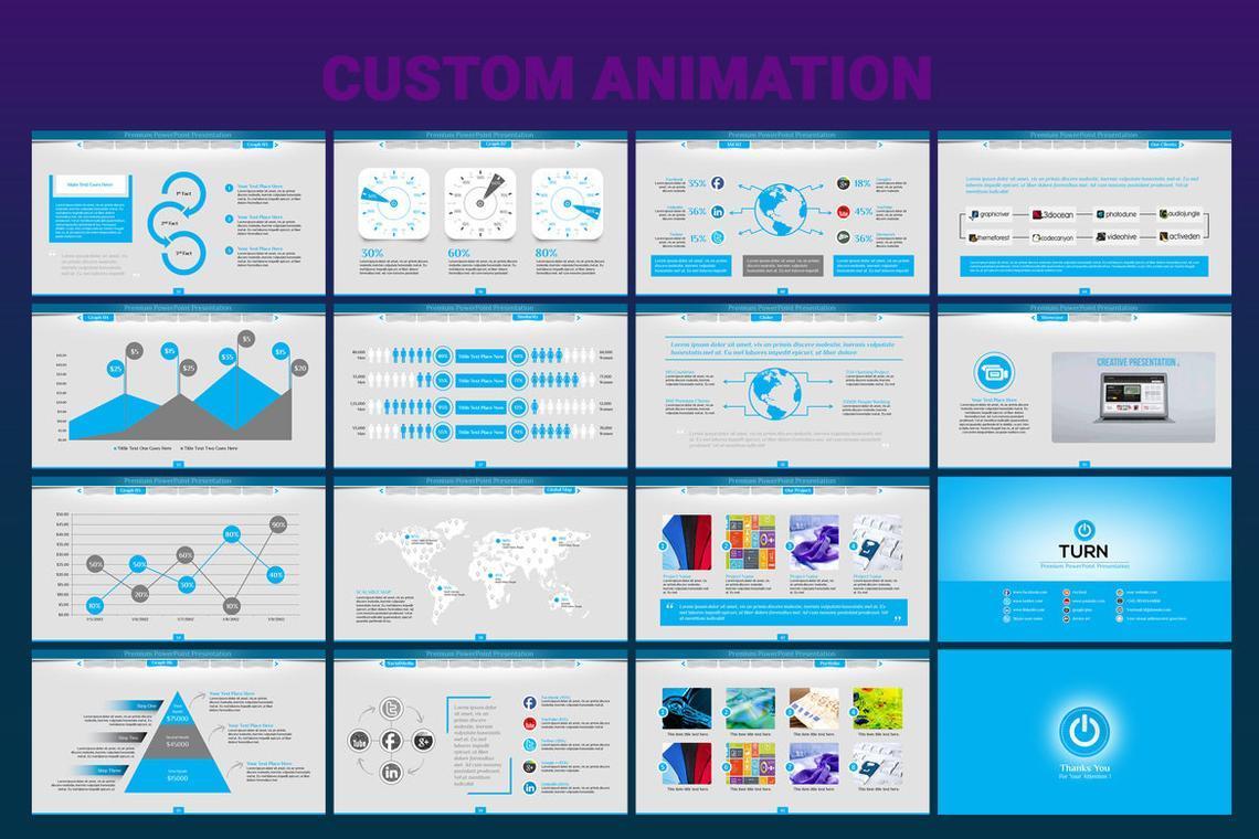 Turn PowerPoint Presentation Template, Slide 4, 06683, Icons — PoweredTemplate.com