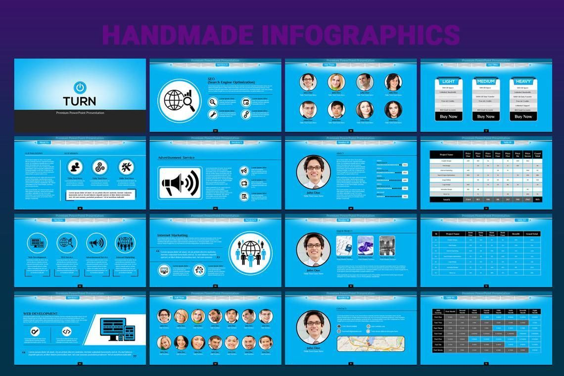 Turn PowerPoint Presentation Template, Slide 5, 06683, Icons — PoweredTemplate.com
