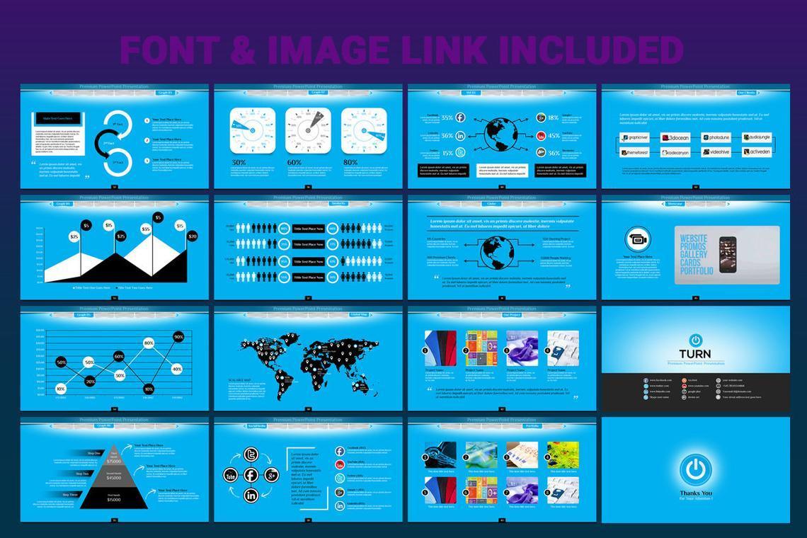 Turn PowerPoint Presentation Template, Slide 7, 06683, Icons — PoweredTemplate.com