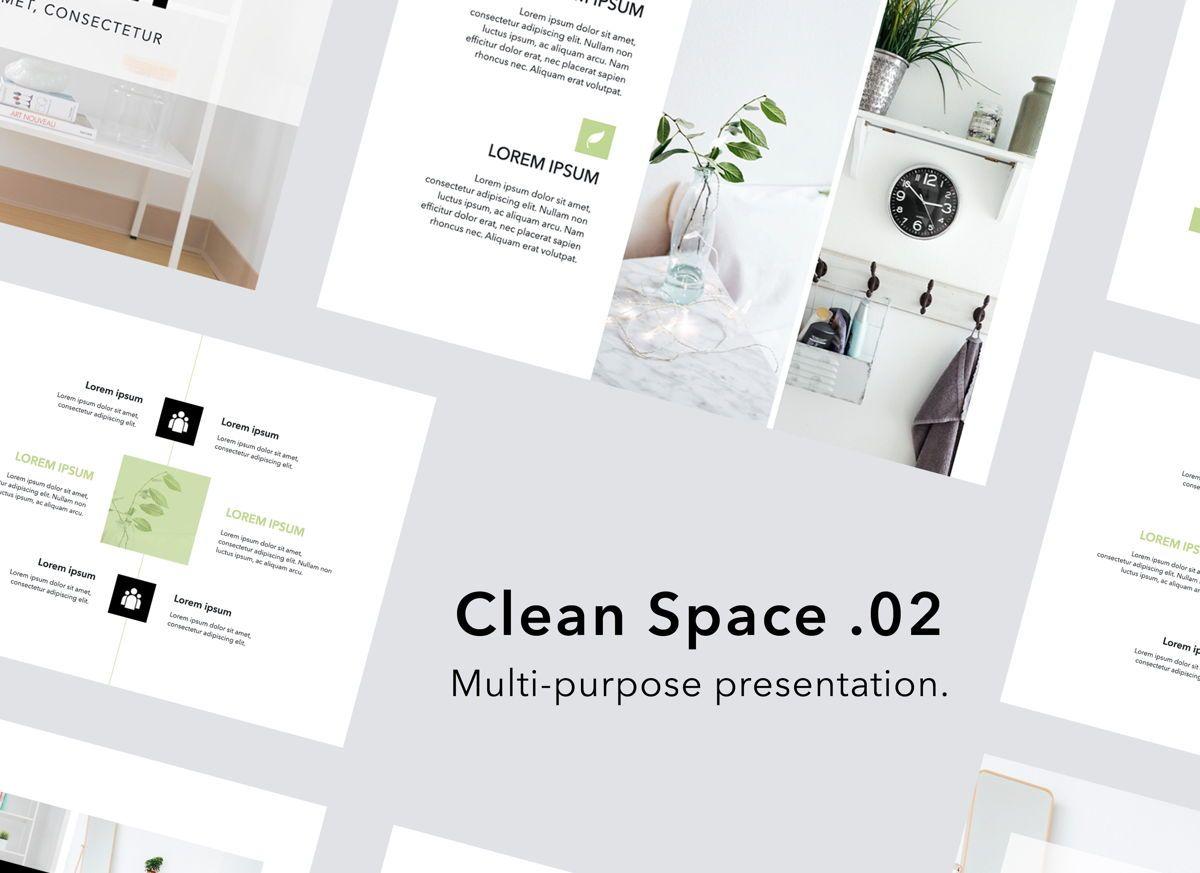 Clean Space 02 Google Slides Presentation Template, 06686, Presentation Templates — PoweredTemplate.com