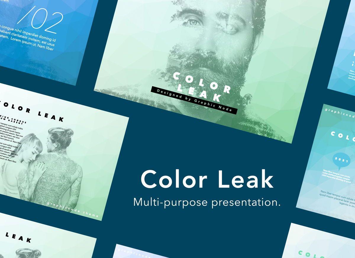 Color Leak Google Slides Presentation Template, 06687, Presentation Templates — PoweredTemplate.com