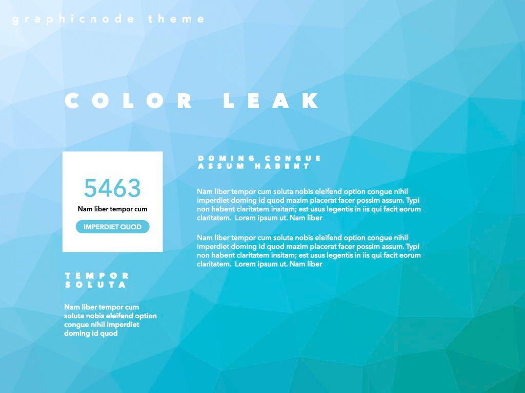 Color Leak Google Slides Presentation Template, Slide 5, 06687, Presentation Templates — PoweredTemplate.com