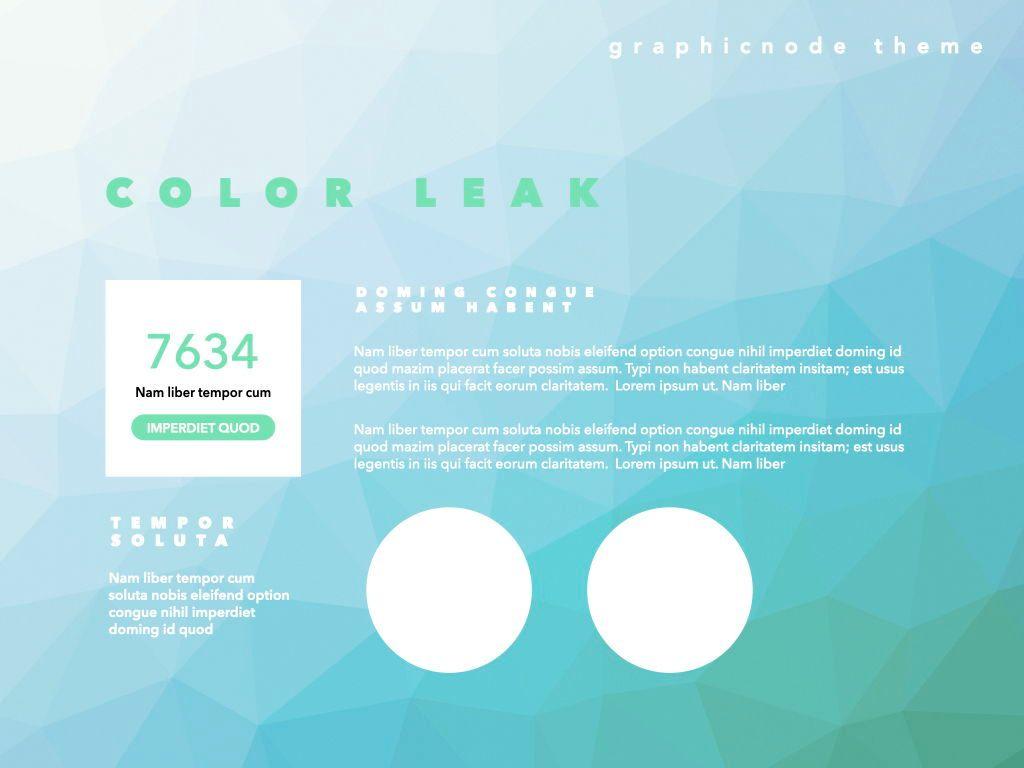 Color Leak Google Slides Presentation Template, Slide 6, 06687, Presentation Templates — PoweredTemplate.com