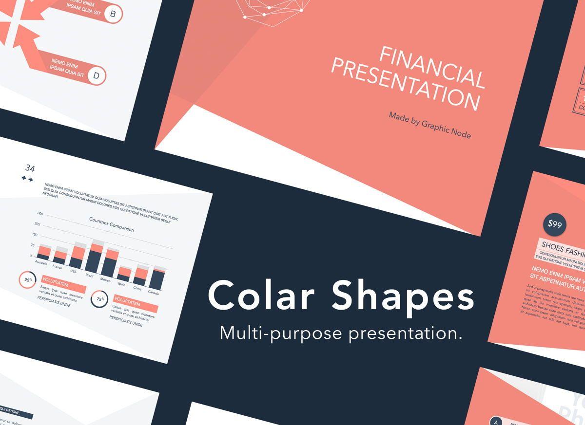 Coral Shapes Google Slides Presentation Template, 06689, Presentation Templates — PoweredTemplate.com
