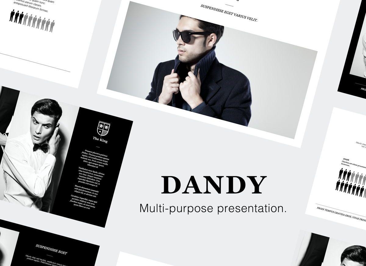 Dandy Google Slides Presentation Template, 06690, Presentation Templates — PoweredTemplate.com