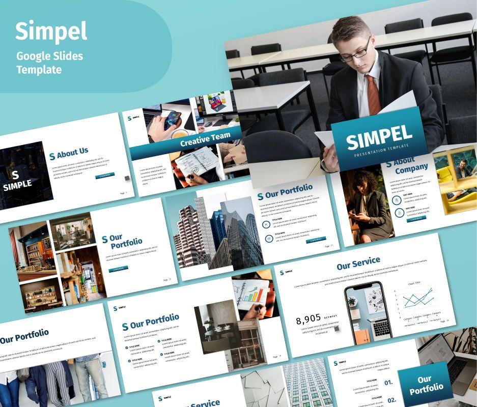 Simple Business Google Slide Template, 06693, Business Models — PoweredTemplate.com