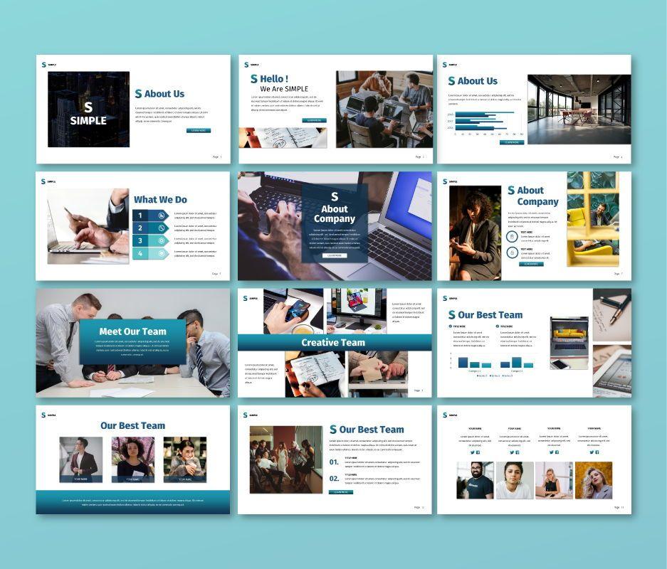 Simple Business Google Slide Template, Slide 2, 06693, Business Models — PoweredTemplate.com