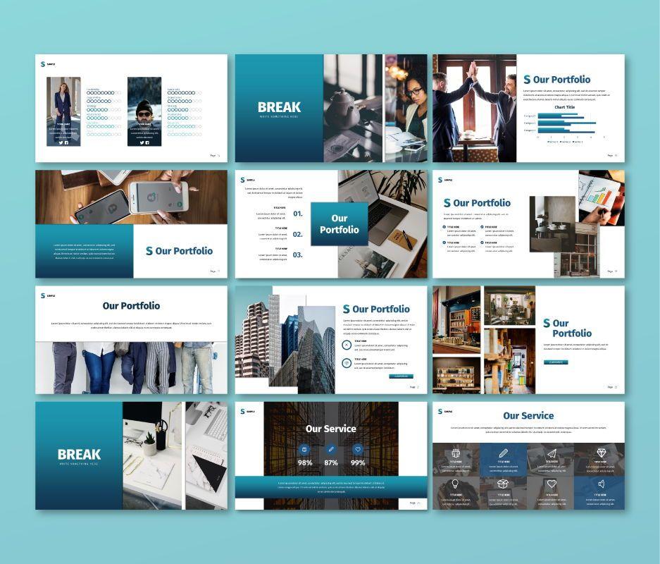 Simple Business Google Slide Template, Slide 3, 06693, Business Models — PoweredTemplate.com