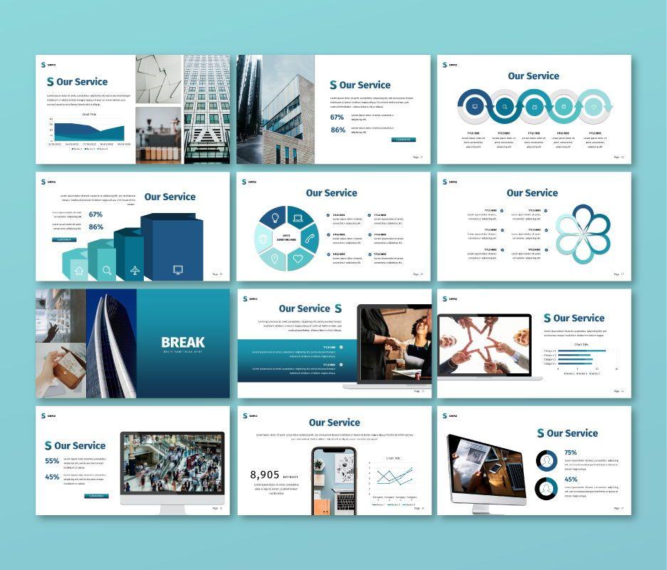 Simple Business Google Slide Template, Slide 4, 06693, Business Models — PoweredTemplate.com