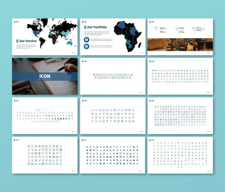 Simple Business Google Slide Template, Slide 5, 06693, Business Models — PoweredTemplate.com