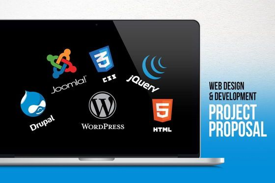 Presentation Templates: Web Design and Development - Project Proposal PowerPoint Template #06694