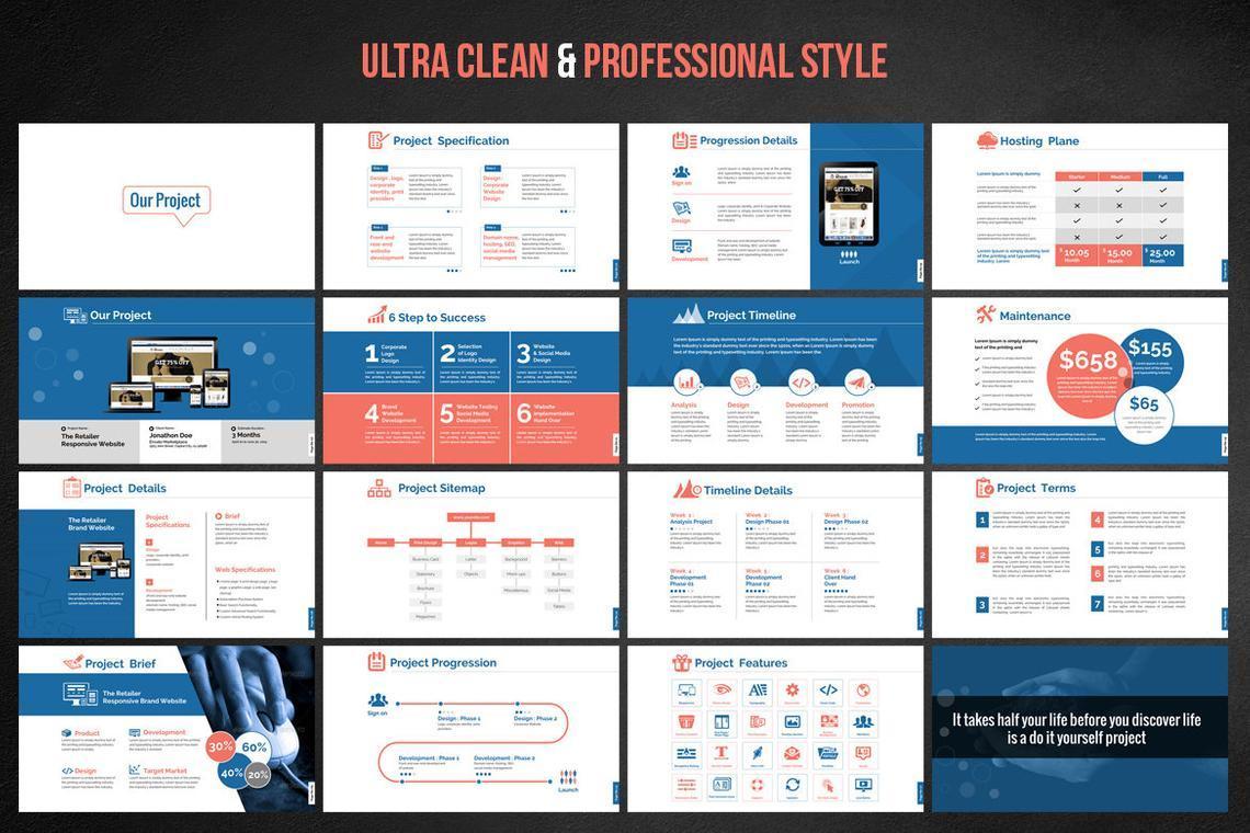 Web Design and Development - Project Proposal PowerPoint Template, Slide 3, 06694, Presentation Templates — PoweredTemplate.com