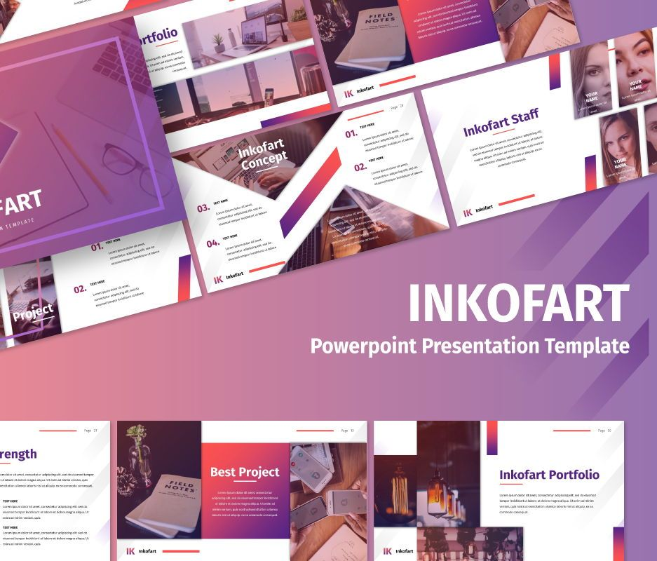 Inkofart - Multi Purpose Powerpoint Template, 06696, Business Models — PoweredTemplate.com