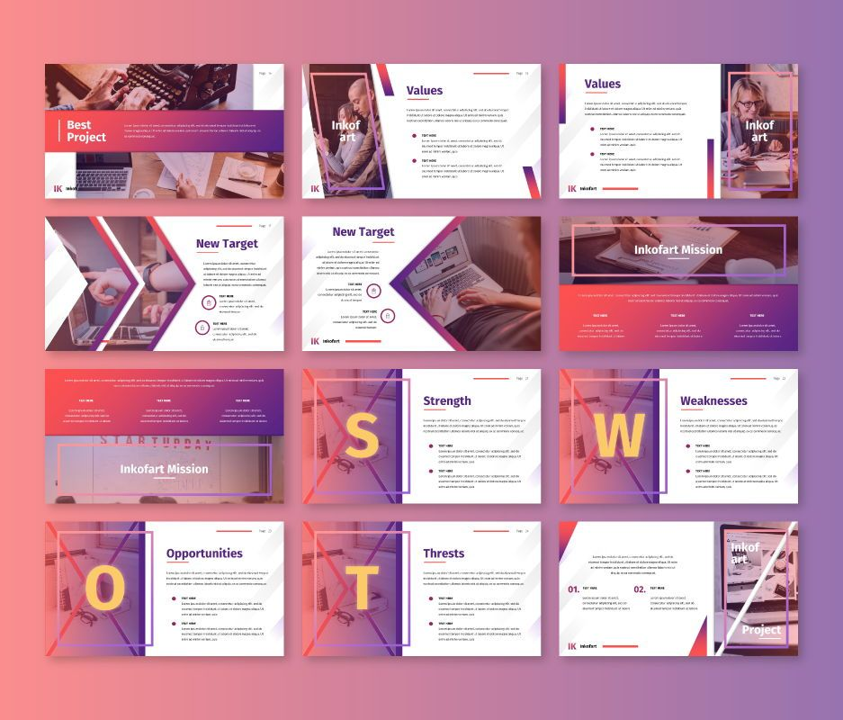 Inkofart - Multi Purpose Keynote Template, Slide 3, 06697, Business Models — PoweredTemplate.com