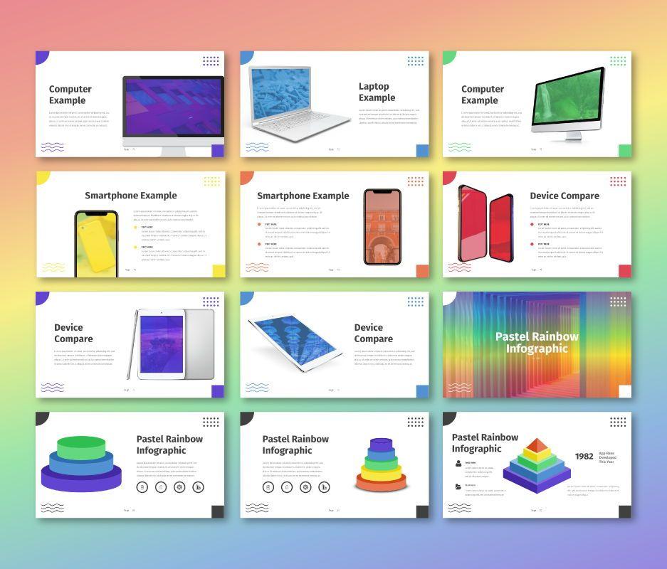 Pastel Rainbow - Multipurpose Powerpoint Template, Slide 8, 06701, Business Models — PoweredTemplate.com