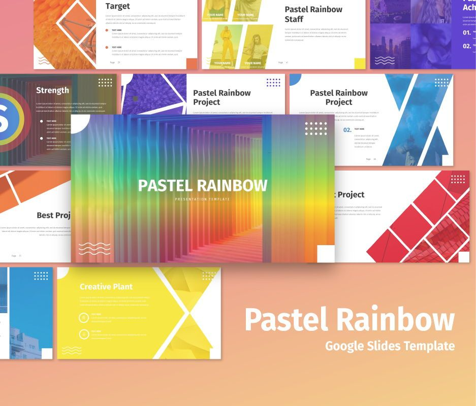 Pastel Rainbow - Multipurpose Google Slide Template, 06702, Business Models — PoweredTemplate.com