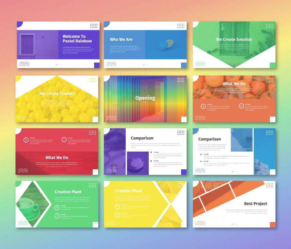 Pastel Rainbow - Multipurpose Google Slide Template, Slide 2, 06702, Business Models — PoweredTemplate.com