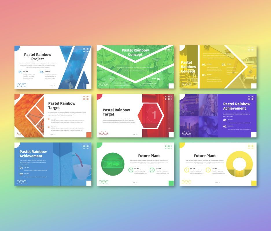 Pastel Rainbow - Multipurpose Google Slide Template, Slide 4, 06702, Business Models — PoweredTemplate.com