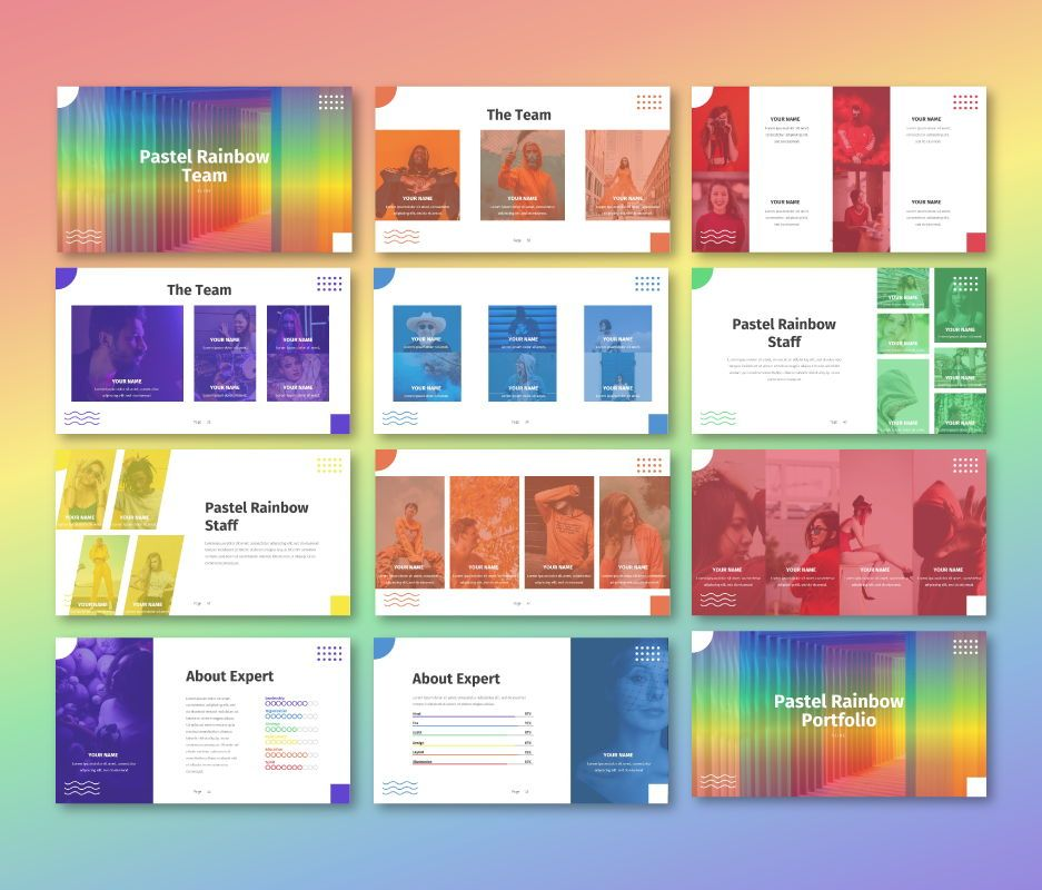 Pastel Rainbow - Multipurpose Google Slide Template, Slide 5, 06702, Business Models — PoweredTemplate.com