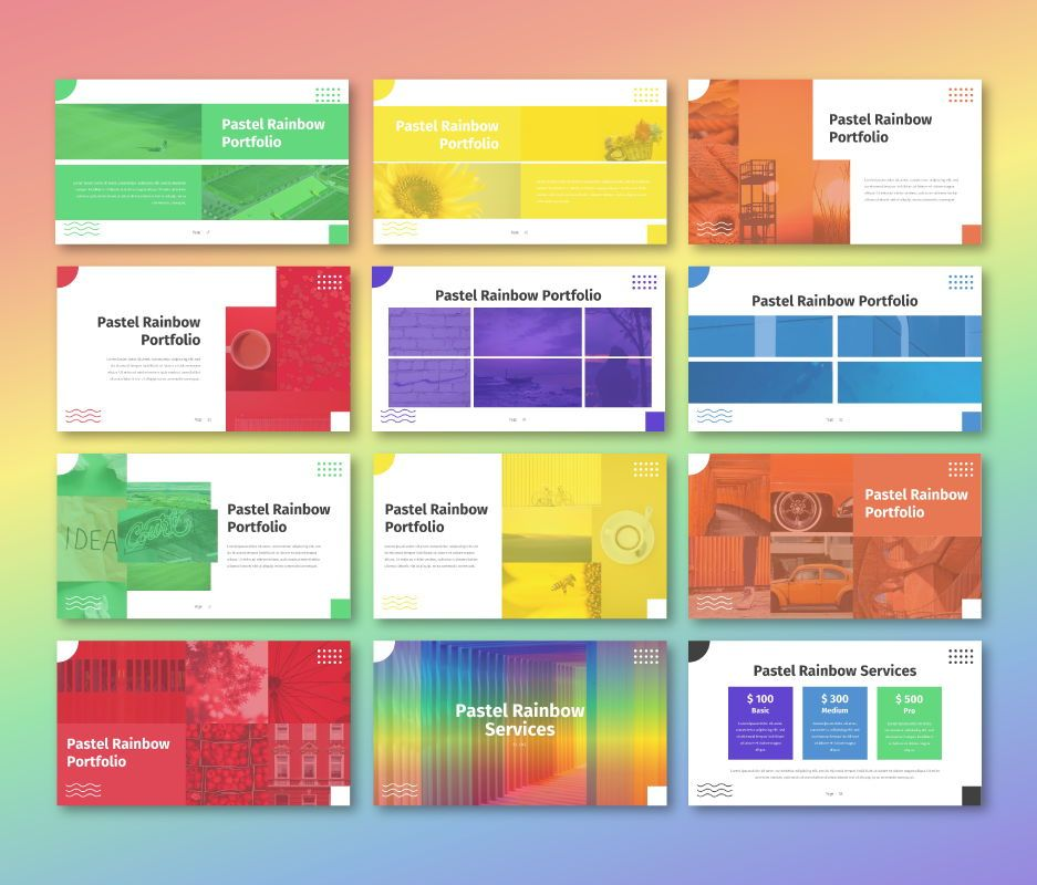 Pastel Rainbow - Multipurpose Google Slide Template, Slide 6, 06702, Business Models — PoweredTemplate.com