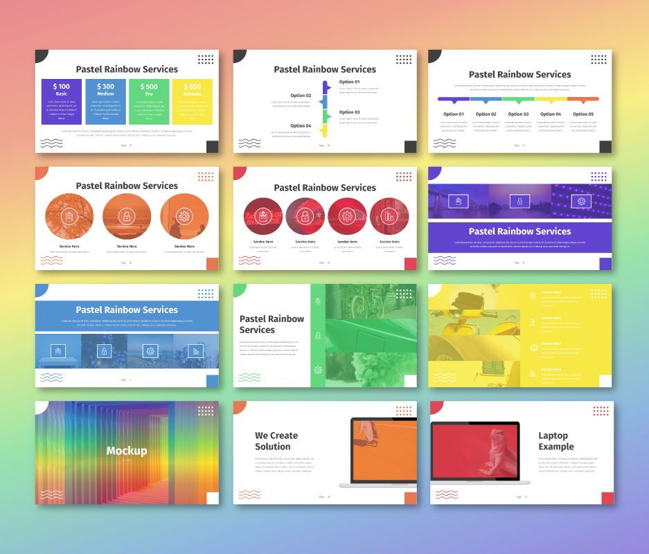 Pastel Rainbow - Multipurpose Google Slide Template, Slide 7, 06702, Business Models — PoweredTemplate.com