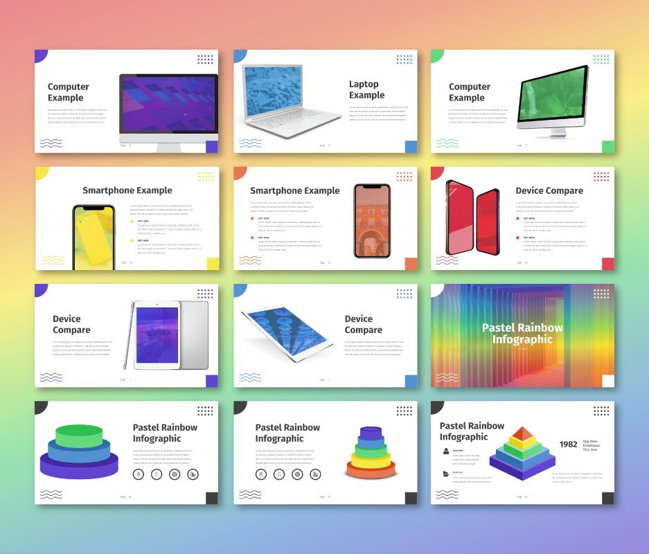Pastel Rainbow - Multipurpose Google Slide Template, Slide 8, 06702, Business Models — PoweredTemplate.com