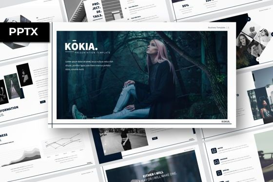 Presentation Templates: Kokia Business Powerpoint #06704