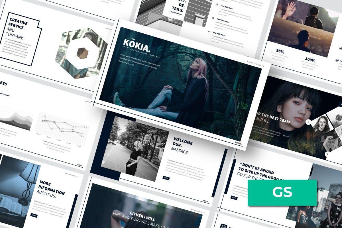 Kokia Business Google Slide, 06706, Presentation Templates — PoweredTemplate.com