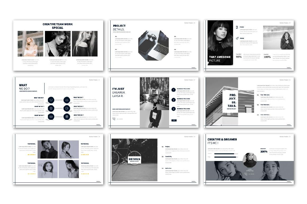 Kokia Business Google Slide, Slide 4, 06706, Presentation Templates — PoweredTemplate.com