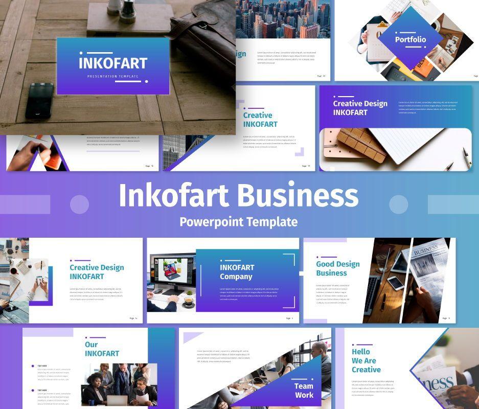 Inkofart - Business Powerpoint Template, 06707, Business Models — PoweredTemplate.com
