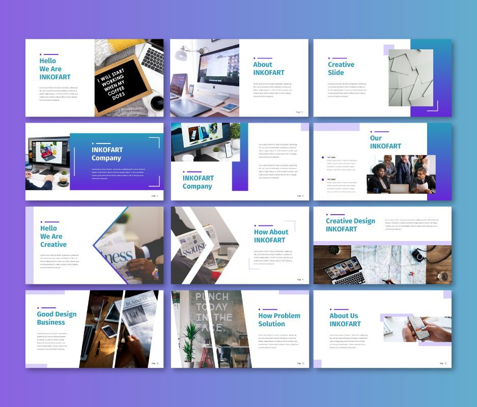 Inkofart - Business Google Slide Template, Slide 2, 06708, Business Models — PoweredTemplate.com