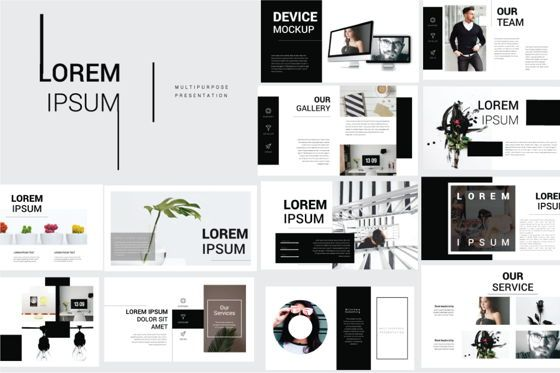 Presentation Templates: Lorem Ipsum Business Powerpoint #06710