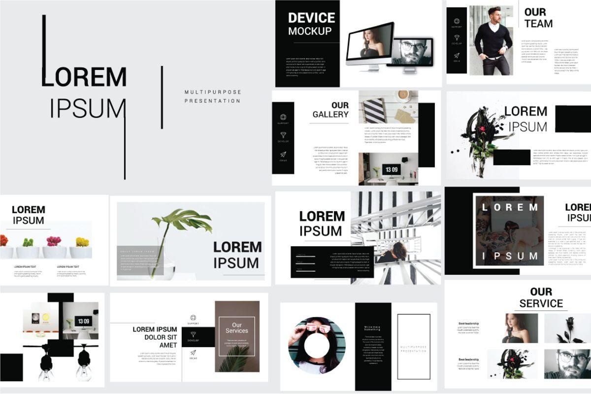 Lorem Ipsum Business Google Slide, 06712, Presentation Templates — PoweredTemplate.com