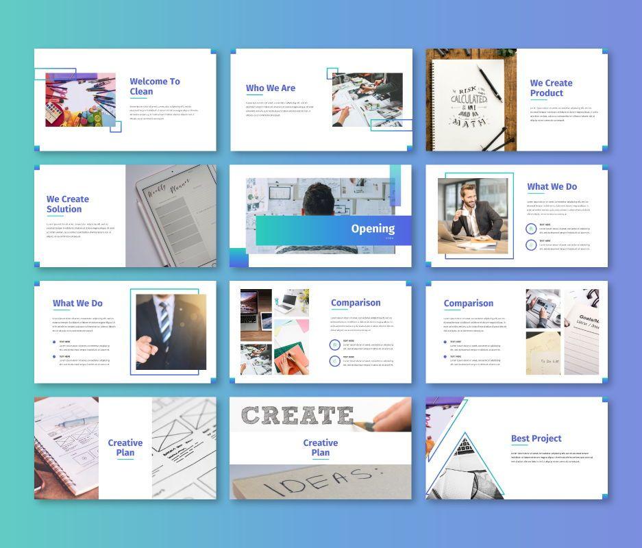 Clean – Business Powerpoint Template, Slide 2, 06713, Business Models — PoweredTemplate.com