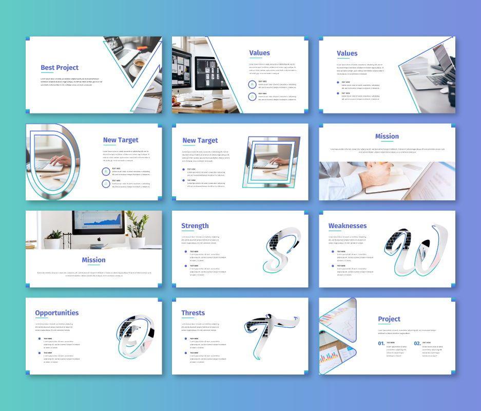 Clean – Business Powerpoint Template, Slide 3, 06713, Business Models — PoweredTemplate.com