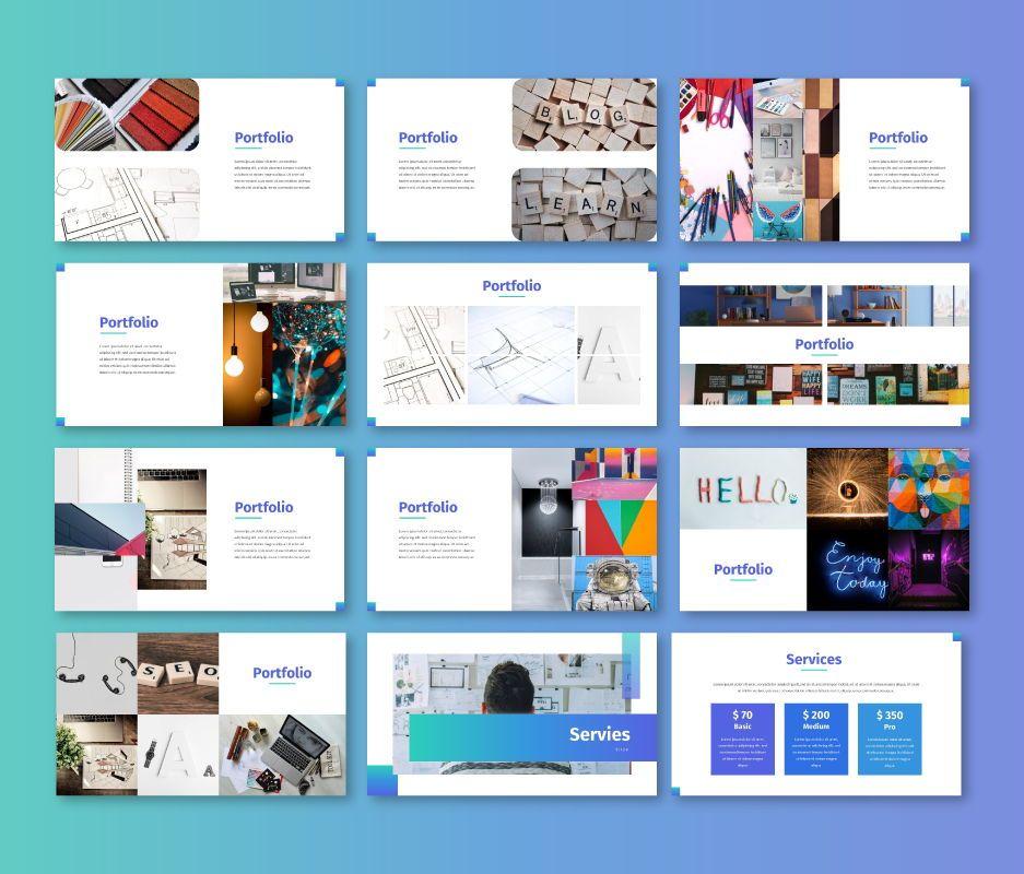 Clean – Business Powerpoint Template, Slide 6, 06713, Business Models — PoweredTemplate.com