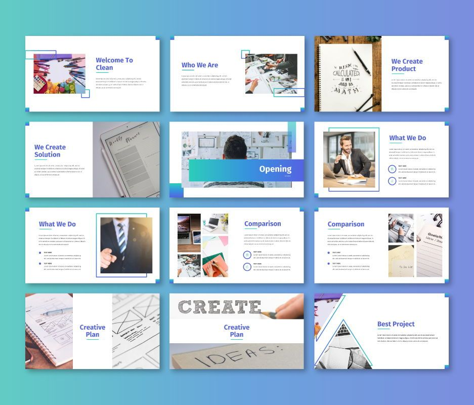 Clean – Business Keynote Template, Slide 2, 06715, Business Models — PoweredTemplate.com