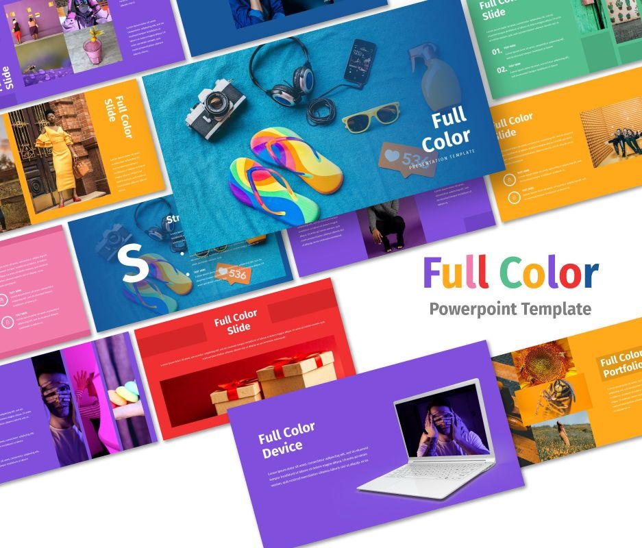 Full Color - Multipurpose Powerpoin Template, 06716, Business Models — PoweredTemplate.com