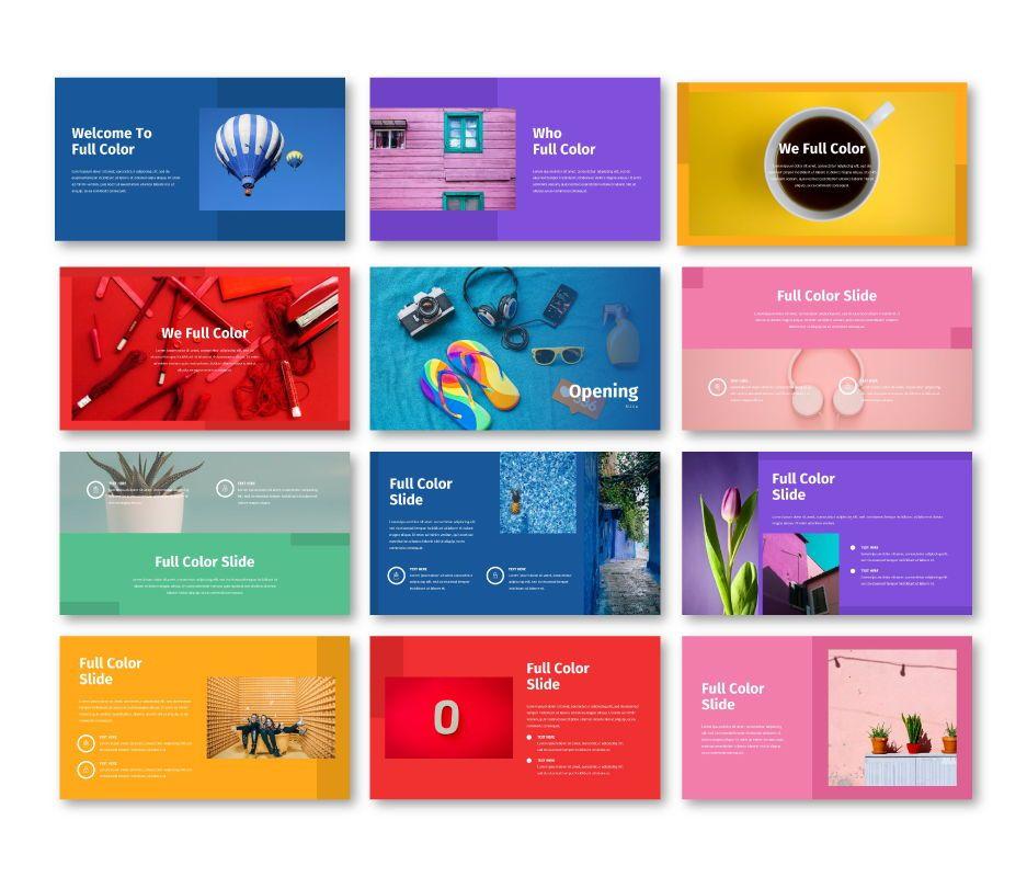 Full Color - Multipurpose Google Slides Template, Slide 2, 06717, Business Models — PoweredTemplate.com