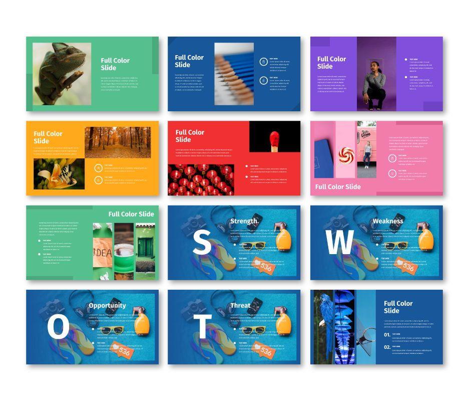 Full Color - Multipurpose Google Slides Template, Slide 3, 06717, Business Models — PoweredTemplate.com
