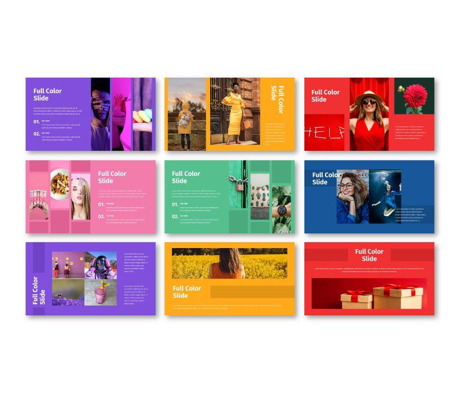 Full Color - Multipurpose Google Slides Template, Slide 4, 06717, Business Models — PoweredTemplate.com
