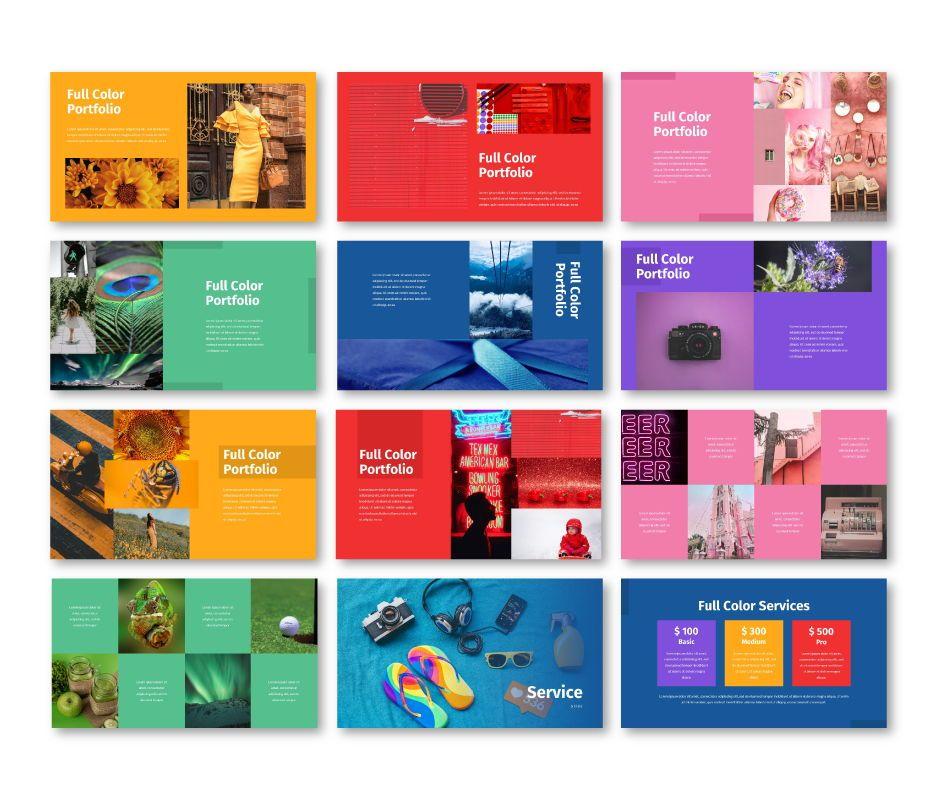 Full Color - Multipurpose Google Slides Template, Slide 6, 06717, Business Models — PoweredTemplate.com