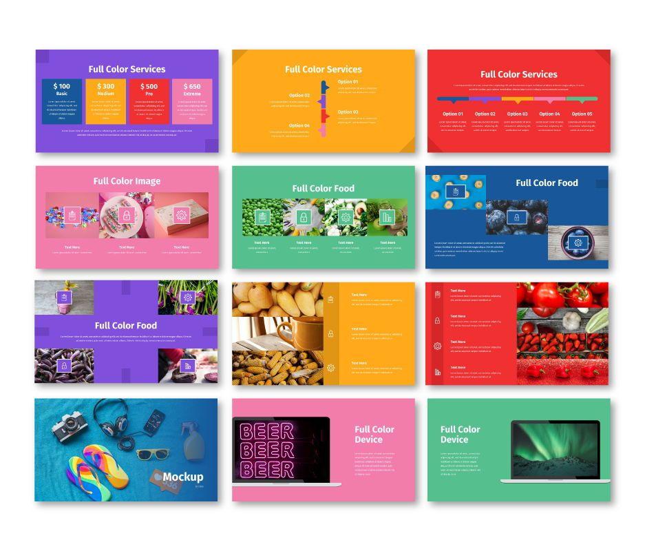 Full Color - Multipurpose Google Slides Template, Slide 7, 06717, Business Models — PoweredTemplate.com