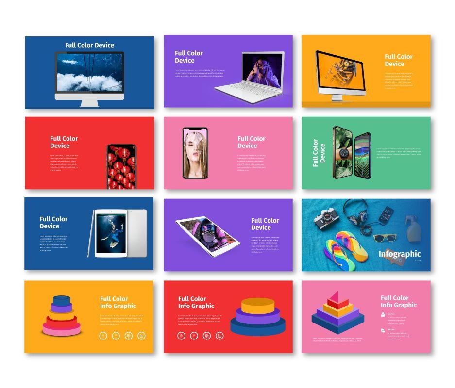 Full Color - Multipurpose Google Slides Template, Slide 8, 06717, Business Models — PoweredTemplate.com