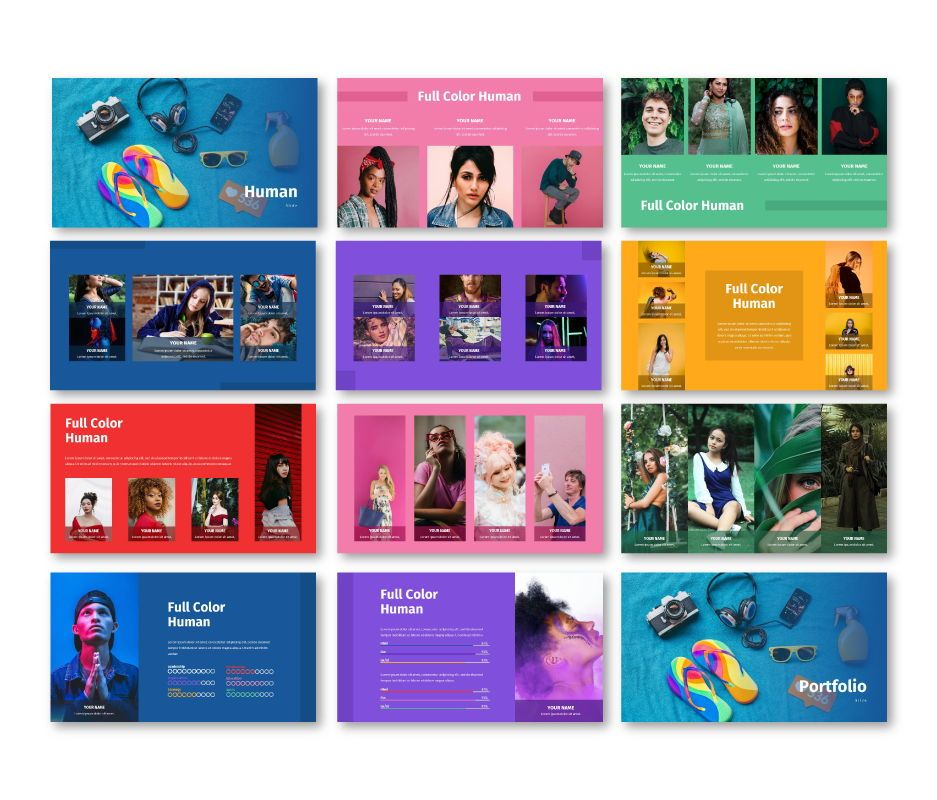 Full Color - Multipurpose Keynote Template, Slide 5, 06718, Business Models — PoweredTemplate.com