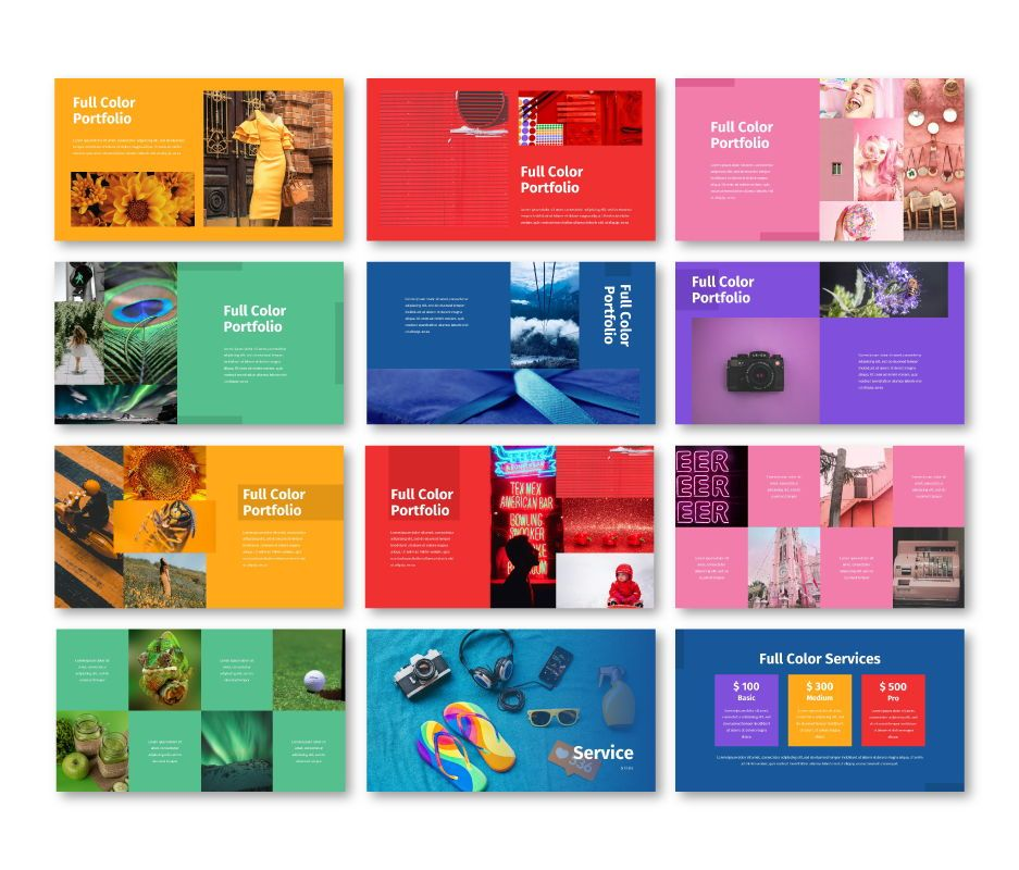Full Color - Multipurpose Keynote Template, Slide 6, 06718, Business Models — PoweredTemplate.com