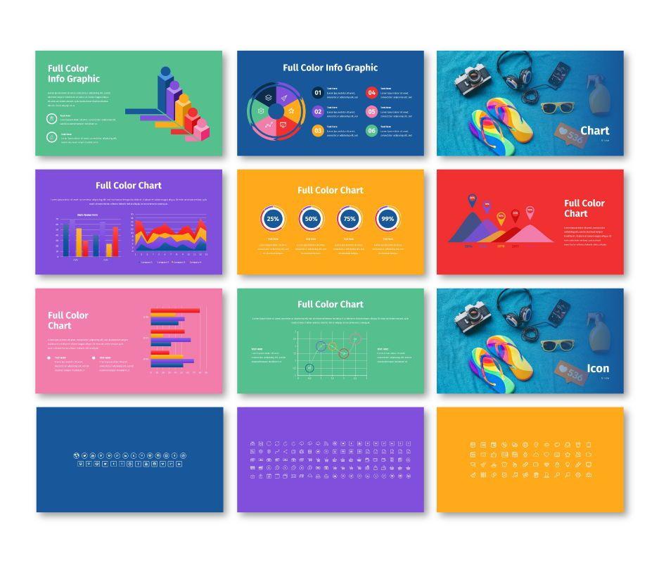 Full Color - Multipurpose Keynote Template, Slide 9, 06718, Business Models — PoweredTemplate.com